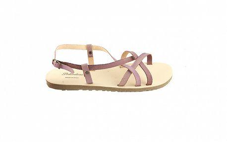 Dámske fialové kožené sandále Pelledoca