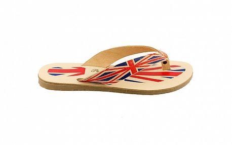 Dámske kožené žabky Pelledoca s motívom anglickej vlajky