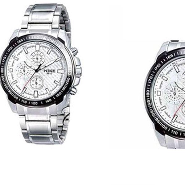 Elegantní hodinky MIKE 8500 z nerezová oceli s japonským QUARTZ strojkem pro každodenní pohodlné nošení!