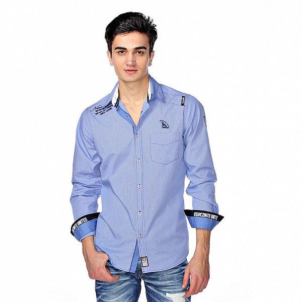 Pánska svetlo modrá jachtárska košeľa M. Conte