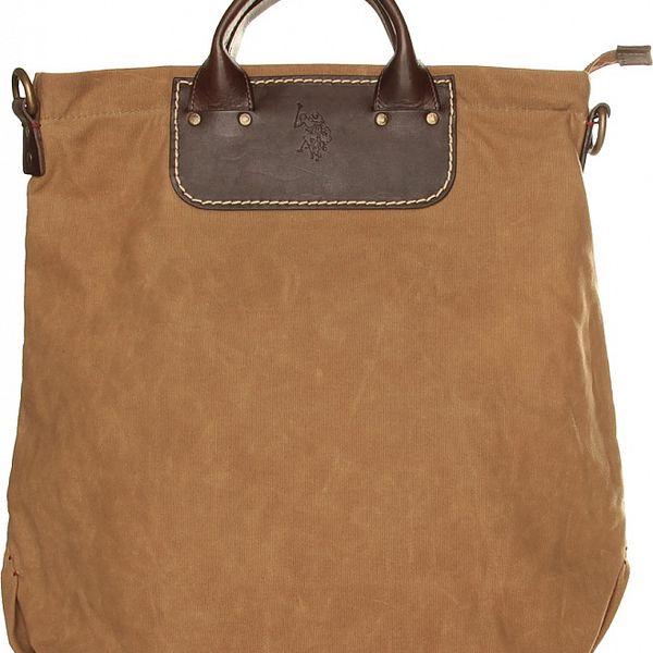 Dámska khaki textilná kabelka U.S. Polo