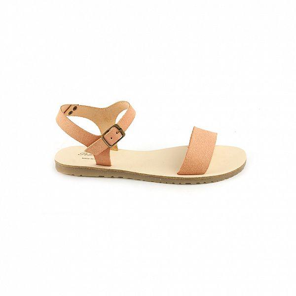 Dámské růžovohnědé sandály Pelledoca