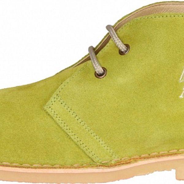 Pánské limetkové semišové boty U.S. Polo
