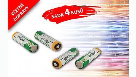 199 Kč za sadu čtyř nabíjecích baterií 3000 mAh AA, 1.2V Ni-MH s doručením v ČR zdarma! Šetřete životní prostřední a hlavně svou kapsu a nekupujte drahé jednorázové baterie.
