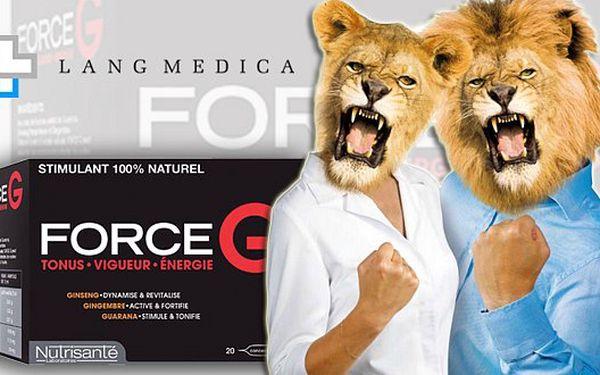 FORCE G - energizující doplněk stravy pro maximální koncentraci a maximální výkon. Řeší únavu, nedostatek energie a elánu.