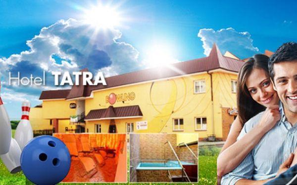 Pobytový WELLNESS balíček v hotelu Tatra*** pro DVA na 3 dny se SNÍDANÍ za senzačních 1899 Kč ! V ceně tři návštěvy SAUNY, tři návštěvy SOLNÉ JESKYNĚ, dvě hodiny BOWLINGU a ochutnávka zákusků v nové cukrárně! Sleva 50%!