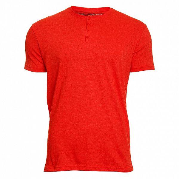Pánské červené tričko Chaser s knoflíčky