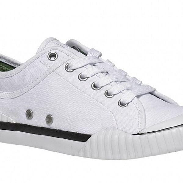 Pánske biele textilné tenisky TBS