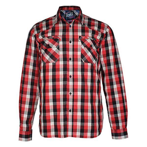 Červená kostkovaná košile