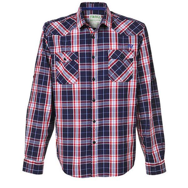 Červeno-modro-bílá košile