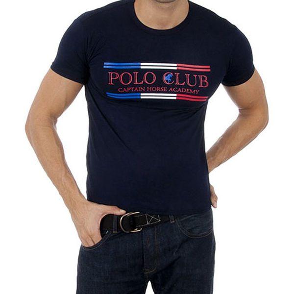Námořnicky modré tričko Cpt. Horse Academy