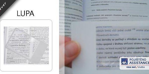 Lupa do peněženky ! Taky se Vám stává, že si občas doma zapomenete své brýle? A nebo nemůžete přečíst text napsaný miniaturním písmem? Máme pro Vás ideálního pomocníka - lupu do peněženky.
