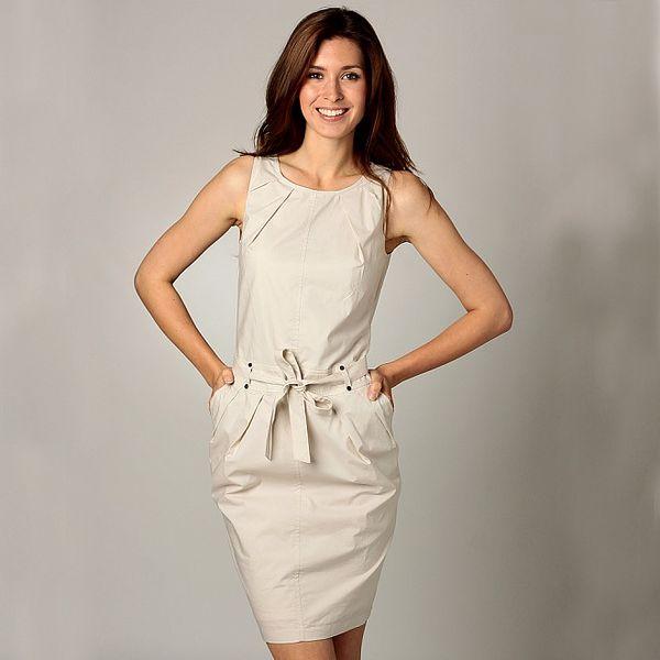 Dámske krémově šaty Caramelo