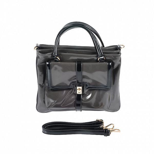 Dámská šedo-černá retro kabelka Marina Galanti