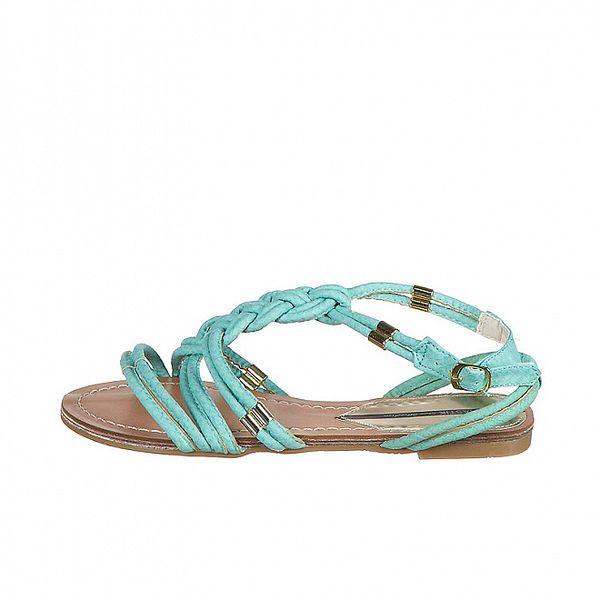 Dámské tyrkysové proplétané sandály Drastik