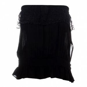 Dámsky čierny top Santa Barbara s čipkou