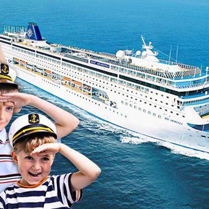 Plavba Středomořím na 8 dní s plnou penzí a dětmi zdarma. Volný vstup do bazénů, vířivek, diskoték a kasín na luxusní lodi Armonia s 2 dětmi do 18 let zdarma! Benátky, Dubrovník, Korfu, Kotor! Čtyři státy – jedna plavba!
