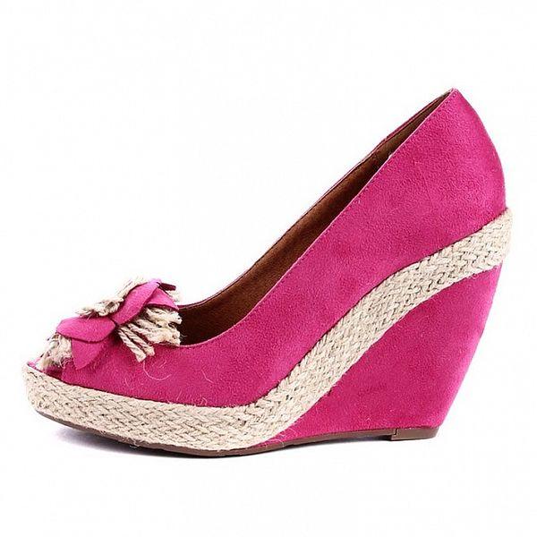Dámske fuchsiové topánky na podpätku Maria Mare