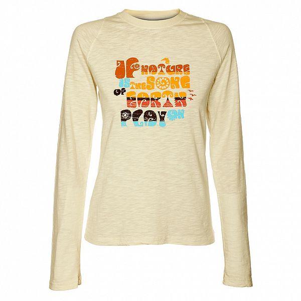 Dámské krémové tričko Hannah s barevným potiskem