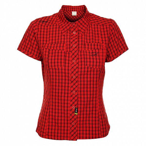 Dámska červená kockovaná košeľa Hannah