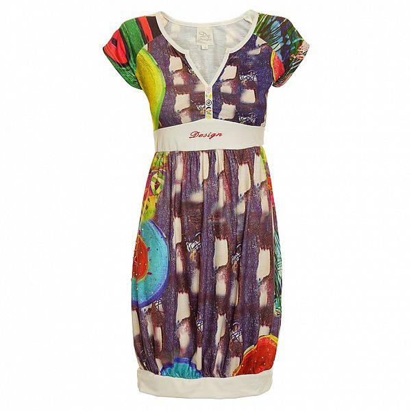 Dámské fialovo-bílé šaty Dislay DY Design