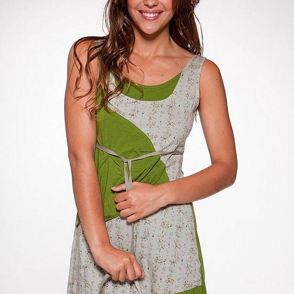Dámske zelené šaty s kvetinovou potlačou Ian Mosh