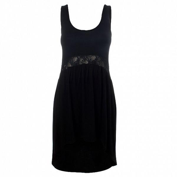 Dámské černé šaty Santa Barbara s krajkou