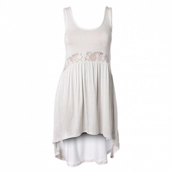 Dámske biele šaty Santa Barbara s čipkou