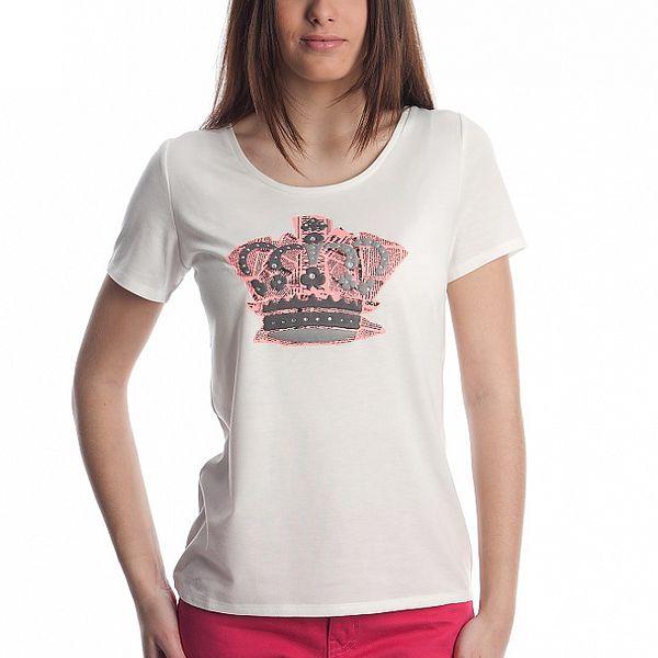 Dámske biele tričko Cristian Lay s korunkou