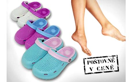 249 Kč za pohodlné letní dámské boty. Skvělé na zahradu, procházku i k vodě.