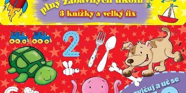 Předškolákův kufřík plný zábavných úkolů - 3 knížky + velký fix