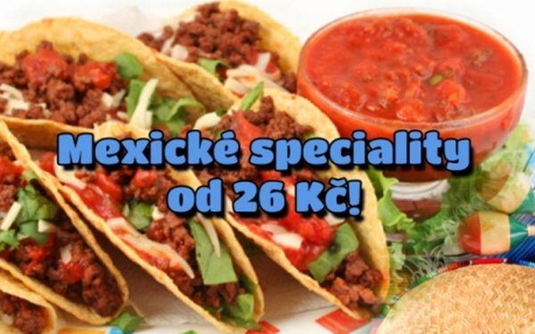 Pravé mexické speciality v nově otevřené MEXICKO-KUBÁNSKÉ restauraci! Sleva na VEŠKERÁ JÍDLA od rodilých jihoamerických kuchařů!