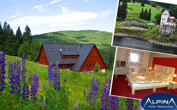 3 dny pro 2 v krkonošském hotelu Alpina s bohatou polopenzí a privátní saunou