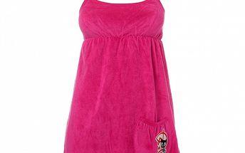 Dámske malinové šaty Pussy Deluxe so špagetovými ramienkami a vreckom