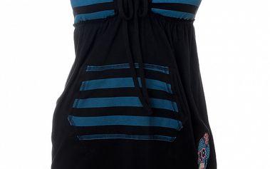 Dámsky čierno-modrý pruhovaný top 13 Cats
