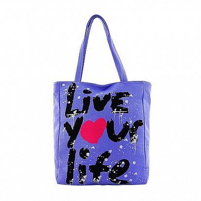 Dámská indigová textilní taška Matt&Desy s potiskem