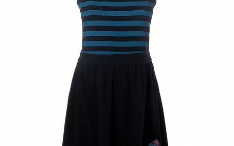 Dámské černé šaty s modrými pruhy 13 Cats