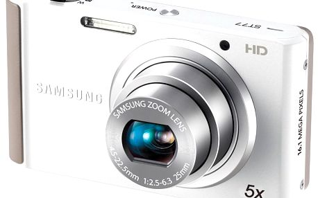 Fotoaparát Samsung ST77 White - širokoúhlý 25mm objektiv s5× optickým zoomem a vysokou světelností f/2,5