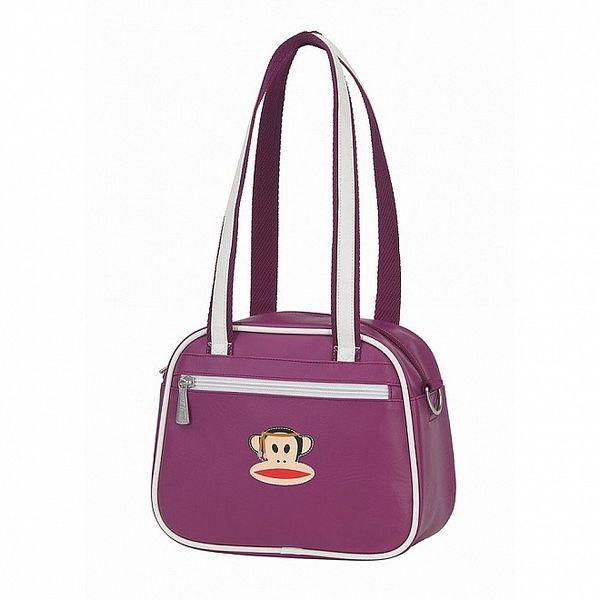 Dámská fialová taška Paul Frank s bílým lemem