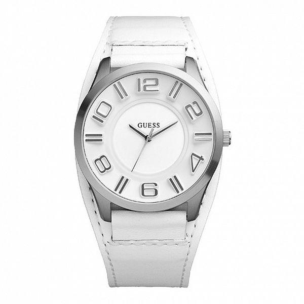 Dámske biele analogové hodinky Guess