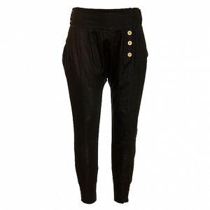 Dámske čierne ľanové nohavice Puro Lino
