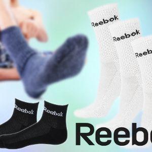 Ponožky Reebok od 109 Kč! 3 - 6 kusů různých barev!