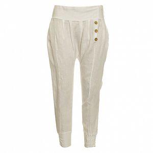 Dámske biele ľanové nohavice Puro Lino