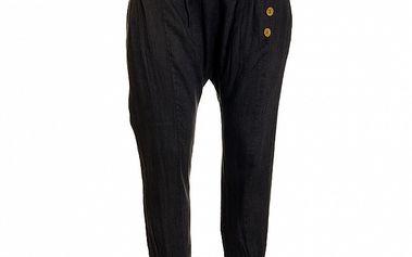 Dámské tmavě modré lněné kalhoty Puro Lino