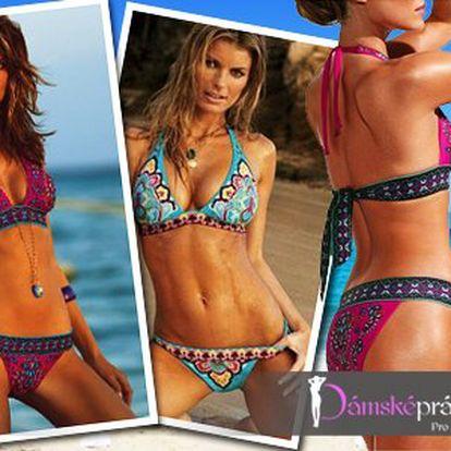 Dvoudílné dámské plavky s etnickým vzorem ve dvou barvách!