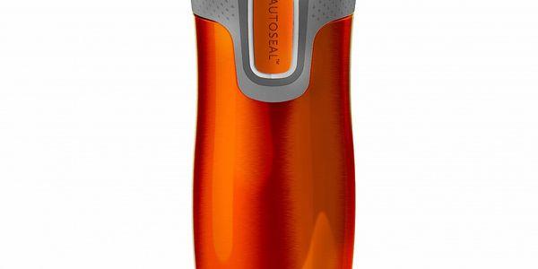 Cestovní termohrnek West Loop, tangerine - uzvírání jednoduchým tlačítkem Autoseal