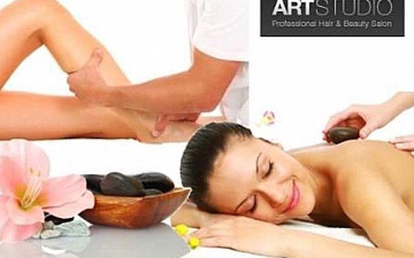 90 min RUČNÍ lymfatická masáž nebo 60 min. masáž LÁVOVÝMI KAMENY