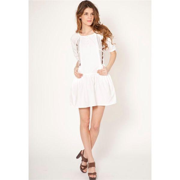 Dámské šaty Tantra bílé nabíraný rukáv