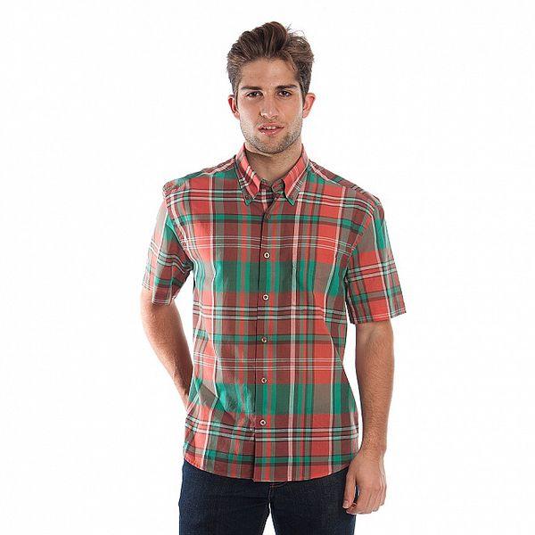Pánska červeno-zelená kockovaná košeľa Cristian Lay