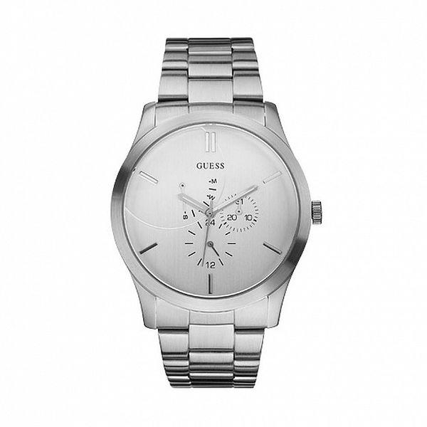 Pánske oceľové analogové hodinky Guess